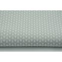 Szürke - fehér apró levél mintás pamutvászon, Textil, 100 % pamut textil szürke és fehér színű apró levélke mintás  Anyagszélesség: 160 cm Anyagvastagság:..., Alkotók boltja