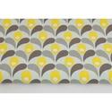 Sárga - szürke tulipánok, Textil, 100 % pamut textil sárga és szürke színben, tulipán mintás  Anyagszélesség: 160 cm Anyagvastagság: 1..., Alkotók boltja