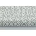 Szürke - fehér színű marokkói mintás textil, világos szürke és fehér Moroccan minta, mozaik mintás, Textil, Pamut, Varrás, Textil, 100 pamut textil szürke és fehér színben, Marokkó mintás  Anyagszélesség: 160 cm Anyagvastagság: 14..., Alkotók boltja