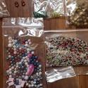 10 csomag alkotásból visszamaradt vegyes gyöngy, Gyöngy, ékszerkellék, Üveggyöngy, Ékszerkészítés, Gyöngy, Eladó alkotásból visszamaradt 10 csomag gyöngy:   Üveggyöngyök: -  12 db nagyobb méretű roppantott,..., Alkotók boltja