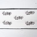 Love köztes - 5 db/csomag, Gyöngy, ékszerkellék, Fém köztesek, Ékszerkészítés, Fém köztesek, Love köztes (platina szín)  Szélessége (csak a felirat): 33 mm Magassága (L betű): 15 mm A lyuk bel..., Alkotók boltja