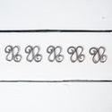 Hullám köztes - 5 db/csomag, Gyöngy, ékszerkellék, Fém köztesek, Hullám köztes (platina szín)  Szélessége: 30 mm Magassága: 32 mm  Kiszerelés: 5 db/csomag  Az..., Alkotók boltja
