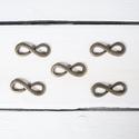 Végtelen jel köztes - 5 db/csomag, Gyöngy, ékszerkellék, Fém köztesek, Ékszerkészítés, Fém köztesek, Végtelen jel köztes (ósárga réz/bronz)  Szélessége: 35 mm Magassága: 13 mm  Kiszerelés: 5 db/csomag..., Alkotók boltja