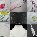 10 db sodrony nyakláncalap , Gyöngy, ékszerkellék, Egyéb alkatrész,  Acél sodrony nyaklánc csavaros kapoccsal. Pandora gyöngyökhöz vagy más medálokhoz is használható. A..., Alkotók boltja