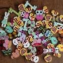 50 db állatkás gomb, Gomb, 50 darab állatkás gomb gyermekek ruháira, zsákjaira, játéknak, felvarrni, felfűzni.  Mindegyi..., Alkotók boltja