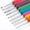 Horgolótű készlet, 9 db-os, Szerszámok, eszközök, Eszköz kötéshez, horgoláshoz, Kötés, horgolás, 9 darabos horgolótű készlet  9 különböző méret különböző szép színekben: 2.0mm/2.5mm/3.0mm/3.5mm/4...., Alkotók boltja