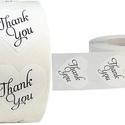 500 db fehér szív thank you matrica, Dekorációs kellékek, Papírművészet, Mindenmás, Köszönöm, hogy vagy nekem!  Köszönöm, hogy velem ünnepelsz! Köszönjük, hogy velünk ünnepeltek!  Kös..., Alkotók boltja