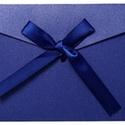 5 db kék díszboríték, Csomagolóanyag, Boríték, Mindenmás, 5 db csodaszép masnis díszboríték. Kb. 175x128mm méretű borítékok. A szalag kb. 48 cm hosszú. Szép ..., Alkotók boltja
