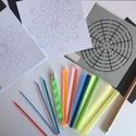 Pontfestő készlet, DIY (leírások), Egységcsomag, A készlet tartalma: - 9db különböző méretű műanyag henger pontfestéshez, - 1db fémhegyű p..., Alkotók boltja
