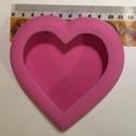 Gipsz öntőforma szív, Szerszámok, eszközök, Sablonok, Gipszöntés, Gipsz öntőforma, amellyel könnyedén készíthetsz gipszből kb. 11,5*11,5 cm-es dekorálható szíveket., Alkotók boltja