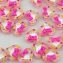 5db-os Rózsaszín szív cabochon kaboson szett , Dekorációs kellékek, Gyöngy, ékszerkellék, Rózsaszín szív alakú cabochon masnival, átlátszó anyagból   Méret:12mm  Az ár 5db-ra vonatkozik.  La..., Alkotók boltja