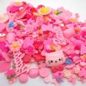 10db-os Rózsaszín pink mix cabochon kaboson szett , Dekorációs kellékek, Gyöngy, ékszerkellék, Vegyes rózsaszín cabochon készlet   Méret:15-36mm  Az ár 10db-ra vonatkozik.   A kabosonokat véletle..., Alkotók boltja