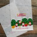 """10 db Karácsonyi celofán tasak ajándéktasak, Csomagolóanyag, Fólia, Mézeskalácssütés, Aranyos mintával az elején  """"We wish you a merry christmas"""" felirattal  A hátoldal fehér, pöttyökke..., Alkotók boltja"""