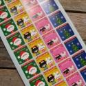 Karácsonyi pecsétmatrica  - 1 ív, Papír, Scrapbook, Papírművészet, Karácsonyi matrica  4 típusú matrica egy íven  32 matrica/ív   Méret: kb. 2,4cm átmérő    A matricá..., Alkotók boltja