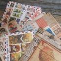 Gyönyörű vintage mintás matrica szett - 1 csomag, Papír, Scrapbook, Papírművészet, Vintage matrica szett  10 ív/csomag, mindenféle vegyes mintákkal  Méret: kb 12,5 x 9,5cm egy ív  A ..., Alkotók boltja