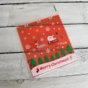 Karácsonyi öntapadós celofán tasak ajándéktasak , Csomagolóanyag, Fólia, Mézeskalácssütés, Mikulás mintával az elején  A hátoldala piros, az elején van a minta áttetsző alapon. Lezárni hátra..., Alkotók boltja