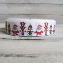 Karácsonyi mintás Grosgrain szalag - 22mm, Textil, Szalag, pánt, Egyoldalas nyomott karácsonyi grosgrain szalag.   Méret: 22mm széles   Karácsonyi csomagoláshoz..., Alkotók boltja