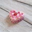 Pink szív cabochon kaboson , Dekorációs kellékek, Gyöngy, ékszerkellék, Édes rózsaszín szív kaboson   Méret:30 x 26mm  Az ár 1db-ra vonatkozik   Lapos háttal, kitűnően raga..., Alkotók boltja