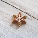 Karácsonyi mintás cabochon kaboson SÜTI, Dekorációs kellékek, Gyöngy, ékszerkellék, Barna színű karácsonyi kaboson   Méret:22 x 22mm  Az ár 1db-ra vonatkozik   Lapos háttal, kitűnően r..., Alkotók boltja