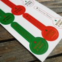 Karácsonyi pecsétmatrica  - 2ív, Papír, Csomagolóanyag, Papírművészet, Karácsonyi lezáró matrica  2 ív  6 gyönyörű matrica/ív (piros, zöld, fehér 2-2db)  Aranylóan fénylő..., Alkotók boltja