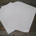 Öntapadós fehér NYOMTATHATÓ papír - A4, Papír, Egyéb papír, Papírművészet, Öntapadós fehér papír A4-es méretben  Felülete FÉNYES! nem pedig matt.   Alkalmas saját matricák, t..., Alkotók boltja