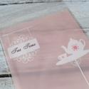 Rózsaszín celofán tasak ajándéktasak -  TEA TIME , Csomagolóanyag, Fólia, Mézeskalácssütés, Fehér teáskanna mintával az elején  Öntapadós   A hátoldal rózsaszín, az eleje áttetsző.  10db/csom..., Alkotók boltja