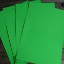 Élénk ZÖLD Öntapadós NYOMTATHATÓ papír - A4, Papír, Egyéb papír, Papírművészet, Élénk zöld öntapadós papír A4-es méretben  Alkalmas saját matricák, termékmatricák, etikettek készí..., Alkotók boltja