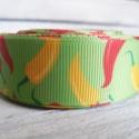Paprika mintás Grosgrain szalag - 22mm, Textil, Szalag, pánt, Egyoldalas nyomott grosgrain szalag.   Méret: 22mm széles   Csomagoláshoz, ajándékokra, képeslapokra..., Alkotók boltja