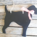 Kutya alakú fekete fa tábla ajtóra , Dekorációs kellékek, Fa, Mindenmás, Kétoldalas információs tábla  Anyaga: fa  Krétával írhatunk rá, így az letörölhető bármikor.   Zsin..., Alkotók boltja