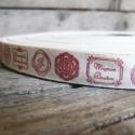 Vintage mintás pamut szalag - 15mm, Textil, Szalag, pánt, Varrás, Egyoldalas nyomott pamutszalag.   Méret: 15mm széles   Csomagoláshoz, ajándékokra, képeslapokra, va..., Alkotók boltja