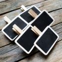 Vintage fekete fa tábla terméktábla árazó tábla- 5db, Dekorációs kellékek, Fa, Mindenmás, Vintage hatású termékjelölő tábla - 5db  Anyaga: fa  Krétával írhatunk rá, így az letörölhető bármi..., Alkotók boltja