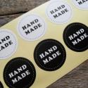 Fekete és Fehér Handmade matrica - 2ív, Papír, Egyéb papír, Papírművészet, Handmade matrica  10 matrica/ ív  20db matrica összesen, fekete és fehér 10-10   Méret: 3,5cm átmér..., Alkotók boltja