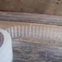 Mintás dekor csipkés ragasztószalag (3) HULLÁM - 1db, Csomagolóanyag, Ragasztószalag, cellux, Papírművészet, Áttetsző csipkeszalag   Öntapadós  Méret: 1,5cm x 10m  Anyaga: mint a cellux, csak mintás    Nagyon..., Alkotók boltja