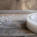 Mintás dekor csipkés ragasztószalag (4) FELHŐ - 1db, Csomagolóanyag, Ragasztószalag, cellux, Papírművészet, Áttetsző csipkeszalag   Öntapadós  Méret: 1,5cm x 10m  Anyaga: mint a cellux, csak mintás    Nagyon..., Alkotók boltja