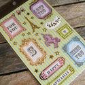Arany szélű képkeret matrica - 3, Papír, Scrapbook, Papírművészet, Képkeret matrica szett  1 ív/szett  Ív mérete: 10 x 15,5cm  6-7 képkeret matrica és a többi látható..., Alkotók boltja