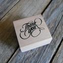 THANK YOU fa nyomda, Papír, Scrapbook, Papírművészet, Thank you nyomda  Gyönyörű cirádás betűkkel  Nyomda mérete: 4 x 4cm  Kapható boltomban hozzá tintap..., Alkotók boltja