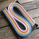 Vegyes színes quilling papír 150db, Papír, Egyéb papír, Papírművészet, Vegyes színű quilling papír szett  150db  0,5cm x 52cm  , Alkotók boltja