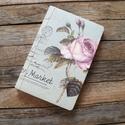 Gyönyörű Vintage stílusú virágmintás rózsás Kraft Album Vázlatfüzet Napló Füzet, Papír, Szerszámok, eszközök, Mindenmás, Varrás, Teljesen kraft üres füzet  Vázlatoknak, naplónak, jegyzetekhez  Stílusos kiegészítője a kézműves hé..., Alkotók boltja