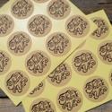 Kraft Thank You HANDMADE pecsétmatrica  lezáró matrica- 2 ív, Papír, Scrapbook, Papírművészet, Kerek THANK YOU matrica   24 matrica összesen, 2 ív  Méret: kb. 3,8cm átmérő    Szép design, csomag..., Alkotók boltja