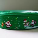 Karácsonyi mintás Grosgrain szalag - 22-25mm , Textil, Szalag, pánt, Az ár méterenként értendő.  Egyoldalas nyomott szalag.  Már csak 1 szalag választható.  1. P..., Alkotók boltja