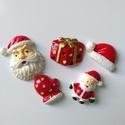 Karácsonyi mintás vegyes cabochon kaboson csomag, Dekorációs kellékek, Gyöngy, ékszerkellék, Vegyes karácsonyi kaboson csomag  Méret:22-30mm  Az ár 5db-ra vonatkozik   Lapos háttal, kitűnően ra..., Alkotók boltja