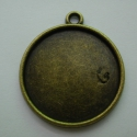 20 mm-es antikolt bronz színű  medál alap, Gyöngy, ékszerkellék, Egyéb alkatrész, 20 mm-es, antikolt bronz színű, fém medál alap ékszerkészítéshez, cabosonokhoz, egyéb kreat..., Alkotók boltja