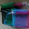 10 db-os organzaszütyő csomag, Csomagolóanyag, Mindenmás, 10 db-os, 10x14 cm-es organza tasak csomag vegyes színekben, random válogatva. 1 db ára 45 Ft., Alkotók boltja