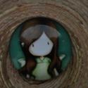 """""""Kislányos"""" kör alakú cabochon (3), Gyöngy, ékszerkellék, Dekorációs kellékek, 30 mm-es,  üveg cabochon díszítéshez, ékszerkészítéshez, kreatívoskodáshoz. Az ár  1 db cabochonra v..., Alkotók boltja"""