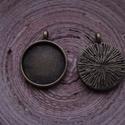 Antik bronz színű medálalap csomag 20 mm-es cabochonhoz, Gyöngy, ékszerkellék, 2 db-os,  antik bronz színű, fém medál alap csomag 20 mm-es cabochonhoz. 1 darab ára: 275 Ft.  Nézz ..., Alkotók boltja