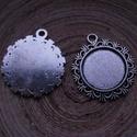 2 db-os, antik ezüst színű medálalap csomag 20 mm-es cabochonhoz, Gyöngy, ékszerkellék, 2 db-os,  antik ezüst színű, fém medál alap csomag 20 mm-es cabochonhoz. 1 darab ára: 250 Ft.  Nézz ..., Alkotók boltja