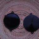 2 db-os, feketet színű köztes csomag 20 mm-es cabochonhoz, Gyöngy, ékszerkellék, 2 db-os,  fekete színű, fém köztes csomag 20 mm-es cabochonhoz. 1 darab ára: 250 Ft.  Nézz szét a bo..., Alkotók boltja