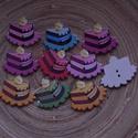 10 db-os fagomb csomag, Dekorációs kellékek, Gomb, Varrás, Gomb, 10 db-os, 30x26 mm-es, 2 lyukú fagomb csomag textilekhez, scrapbookinghoz, dekorációhoz, egyéb krea..., Alkotók boltja