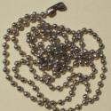 Tibeti ezüst bogyós nyaklánc alap (55cm, 2db/cs), Gyöngy, ékszerkellék, Fém köztesek, Fémmegmunkálás, ötvösség, Tibeti ezüst bogyós nyaklánc alap  Az ár 2 darabra vonatkozik  színe: ezüst  átmérője: 0,2mm hossza..., Alkotók boltja