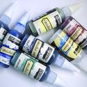 Média tinta, Festék, Egyéb festék, Festett tárgyak, festészet, Festékek, Alkotásból megmaradt média tinta, oldószerrel. A tinták bontottak, az oldószer is. Csak néhány csep..., Alkotók boltja